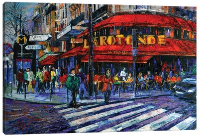 La Rotonde Paris Canvas Art Print