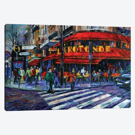 La Rotonde Paris Canvas Print #MGE33} by Mona Edulesco Canvas Print