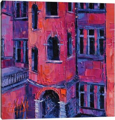 La Tour Rose Lyon Canvas Art Print