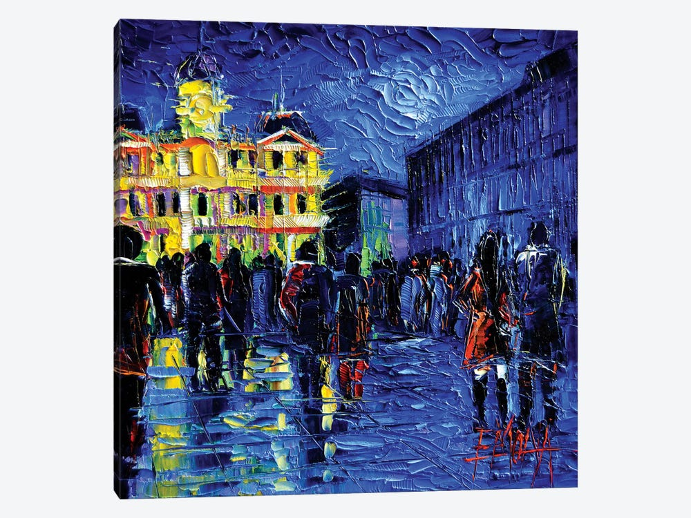 Lyon Light Festival Of Lights by Mona Edulesco 1-piece Canvas Art
