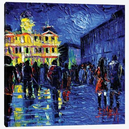 Lyon Light Festival Of Lights Canvas Print #MGE41} by Mona Edulesco Canvas Wall Art
