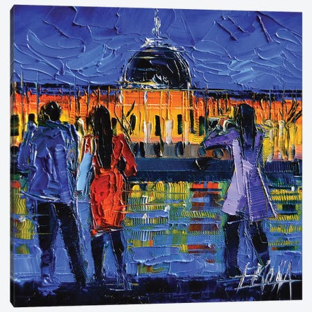 Lyon Sightseeing By Night Canvas Print #MGE44} by Mona Edulesco Art Print