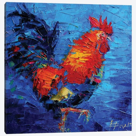 Abstract Colorful Rooster Canvas Print #MGE4} by Mona Edulesco Art Print