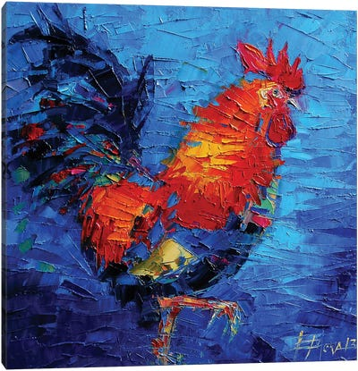 Abstract Colorful Rooster Canvas Art Print