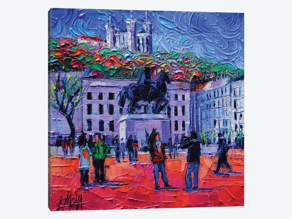 One Tuesday In Lyon by Mona Edulesco 1-piece Canvas Print
