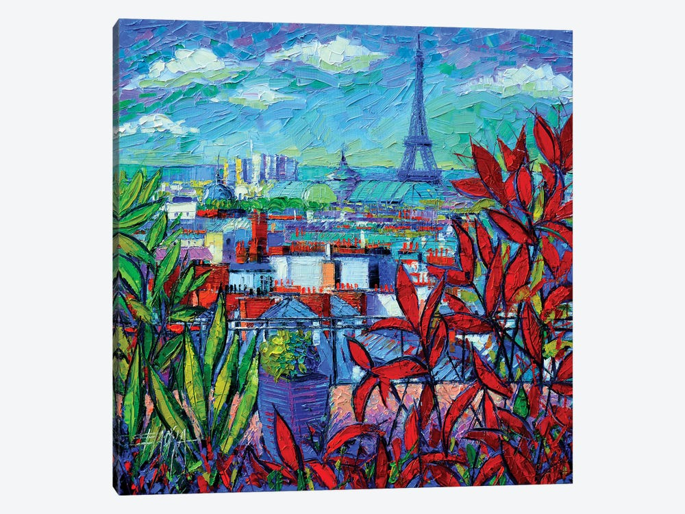 Paris Rooftops by Mona Edulesco 1-piece Canvas Print