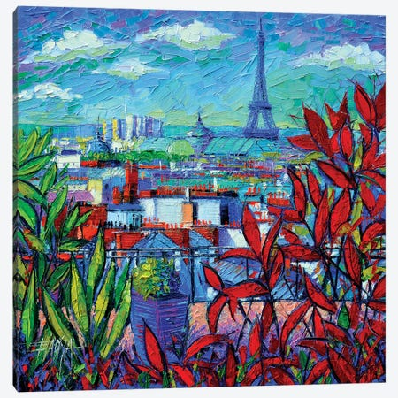 Paris Rooftops Canvas Print #MGE53} by Mona Edulesco Art Print