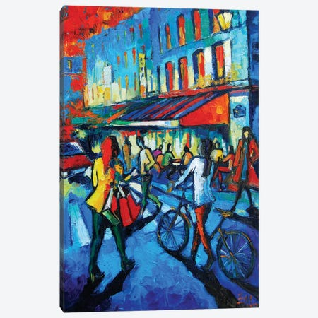 Parisian Cafe Canvas Print #MGE54} by Mona Edulesco Canvas Art