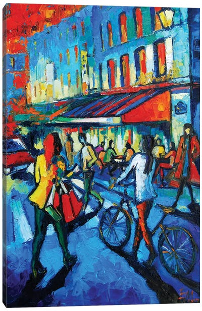 Parisian Cafe Canvas Art Print