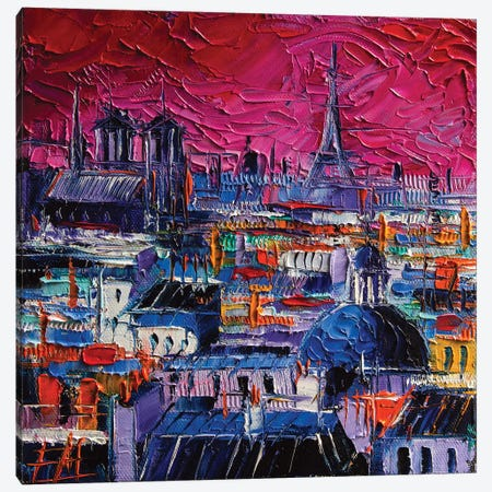Parisian Roofs Canvas Print #MGE55} by Mona Edulesco Canvas Art