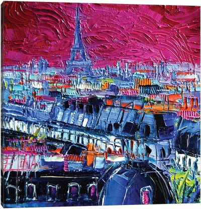 Pink Paris Canvas Art Print