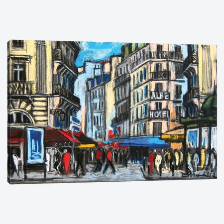 Place St-Michel, Paris Canvas Print #MGE57} by Mona Edulesco Canvas Artwork