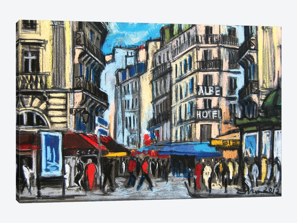 Place St-Michel, Paris by Mona Edulesco 1-piece Canvas Print