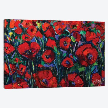 Poppies Symphony Canvas Print #MGE62} by Mona Edulesco Canvas Art