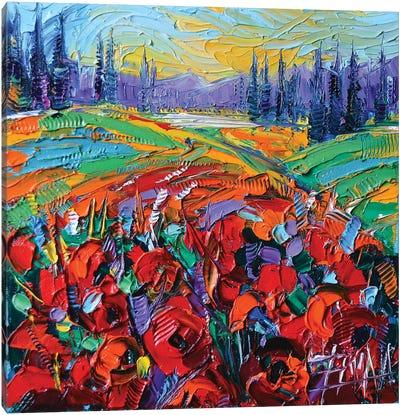 Poppy Field Impression Canvas Art Print