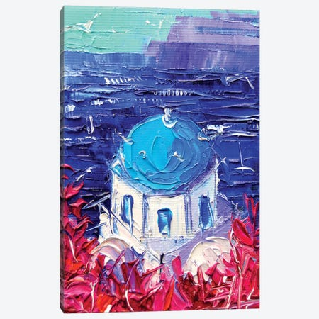Santorini Church Cupola Canvas Print #MGE65} by Mona Edulesco Art Print