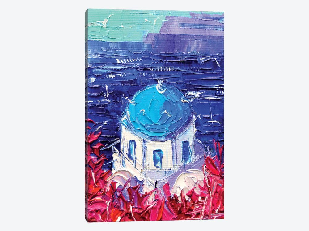 Santorini Church Cupola by Mona Edulesco 1-piece Canvas Art