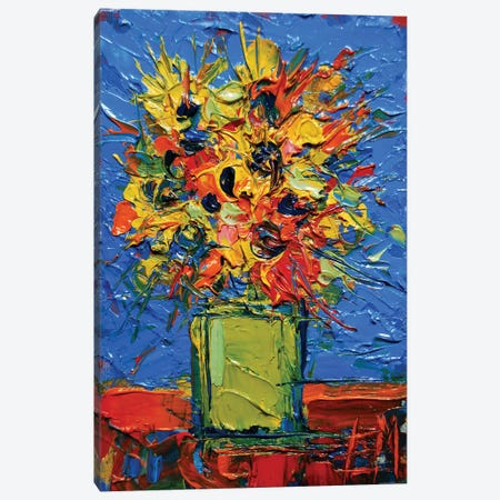 Abstract Miniature Bouquet Canvas Print #MGE6} by Mona Edulesco Canvas Art Print