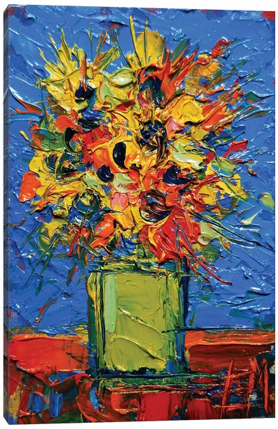 Abstract Miniature Bouquet Canvas Art Print
