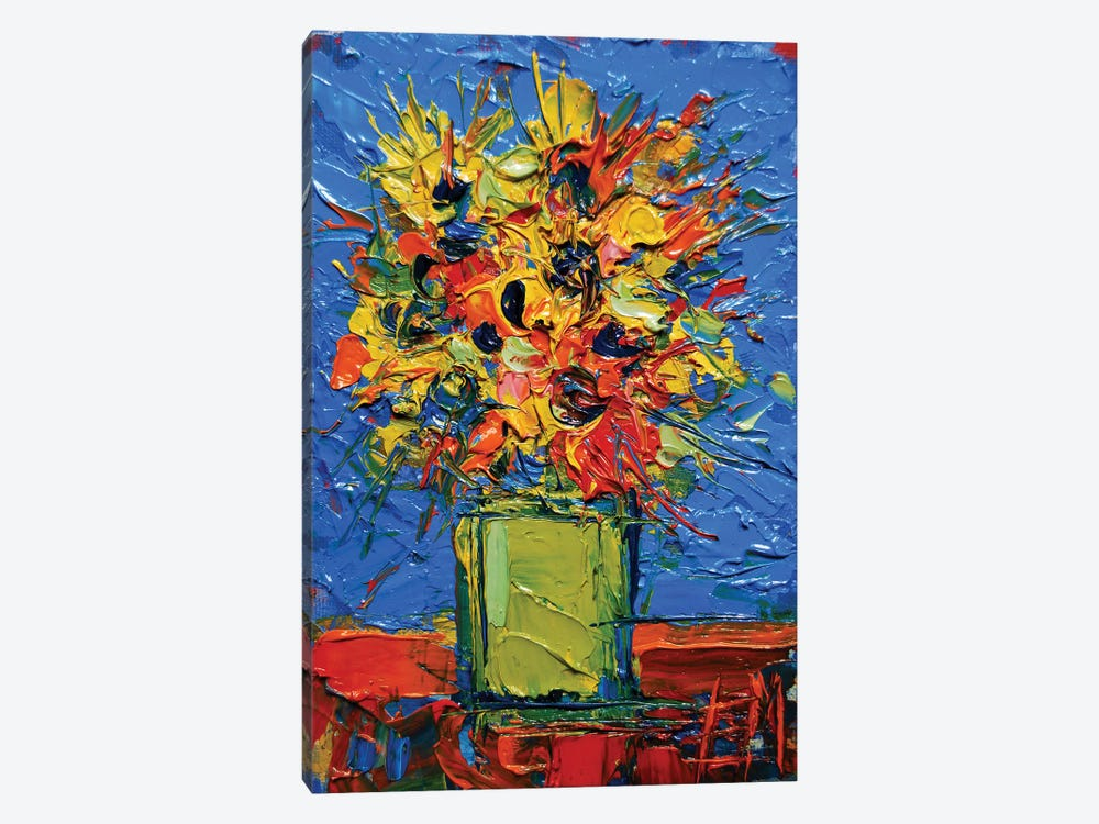 Abstract Miniature Bouquet by Mona Edulesco 1-piece Canvas Wall Art