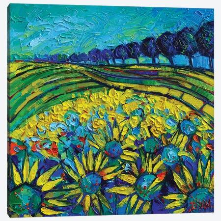Sunflowers Phantasmagoria Canvas Print #MGE73} by Mona Edulesco Art Print