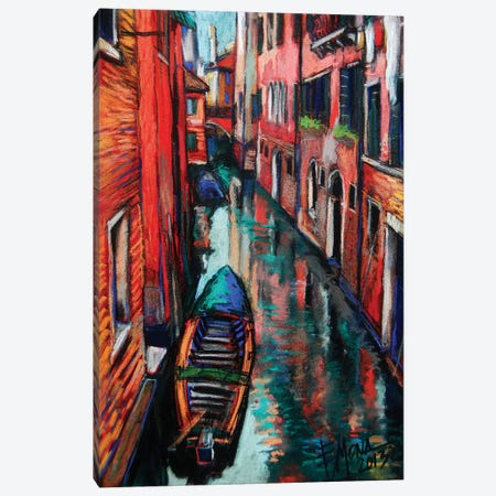 The Colors Of Venice Canvas Print #MGE80} by Mona Edulesco Canvas Wall Art