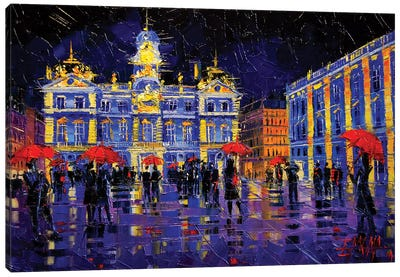 The Festival Of Lights In Lyon France Canvas Art Print
