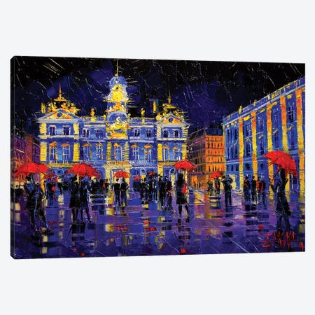 The Festival Of Lights In Lyon France Canvas Print #MGE81} by Mona Edulesco Canvas Artwork