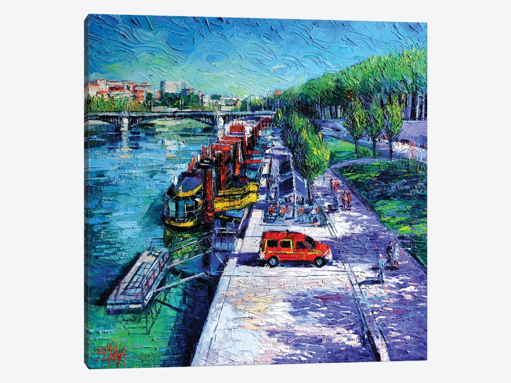 The Lively Banks Of Lyon by Mona Edulesco 1-piece Art Print