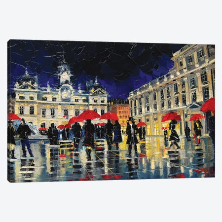 The Rendezvous Of Terreaux Square In Lyon Canvas Print #MGE84} by Mona Edulesco Canvas Art Print