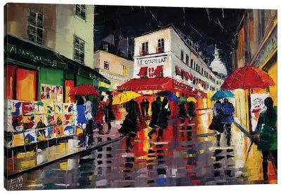 The Umbrellas Of Montmartre Canvas Art Print