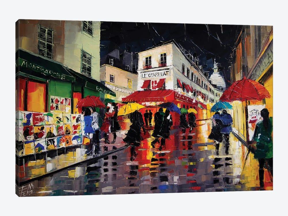 The Umbrellas Of Montmartre by Mona Edulesco 1-piece Art Print