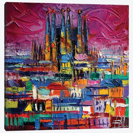 Barcelona Colors Canvas Print #MGE8} by Mona Edulesco Canvas Wall Art