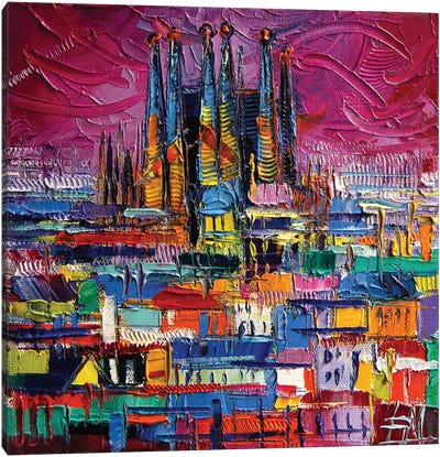Barcelona Colors Canvas Art Print