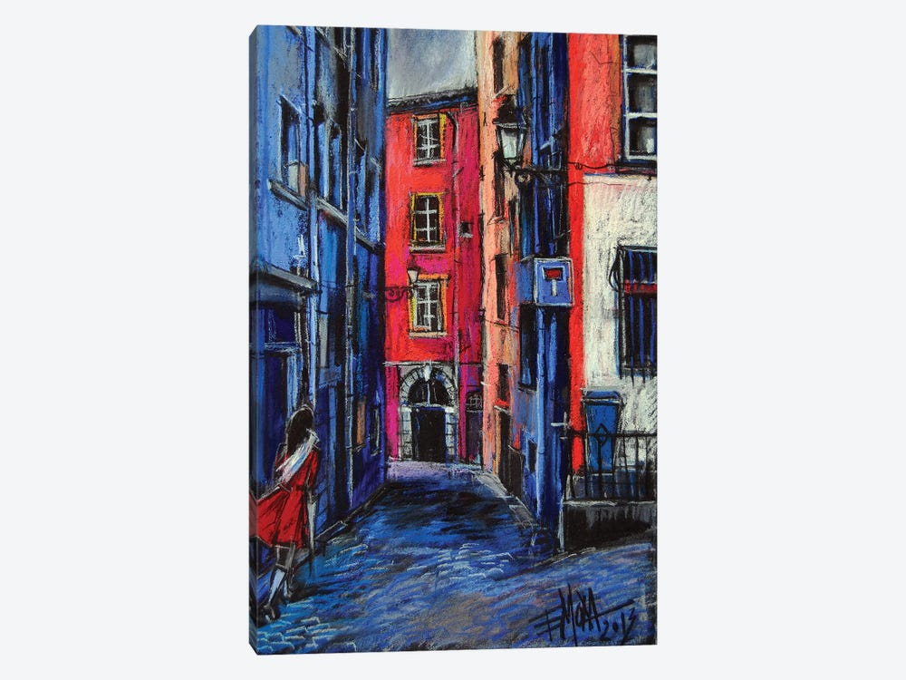 Trinité Square, Lyon by Mona Edulesco 1-piece Canvas Art