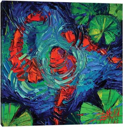 Turquoise Swirls Canvas Art Print