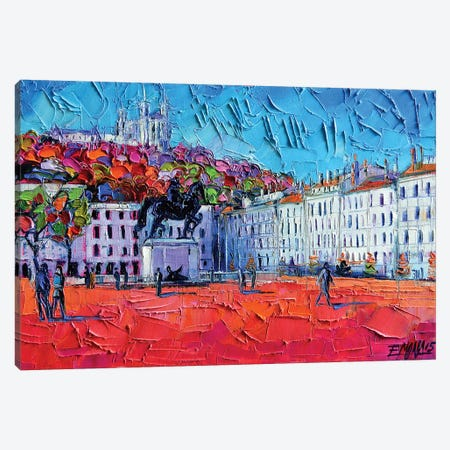 Urban Impression - Bellecour Square, Lyon Canvas Print #MGE92} by Mona Edulesco Canvas Print