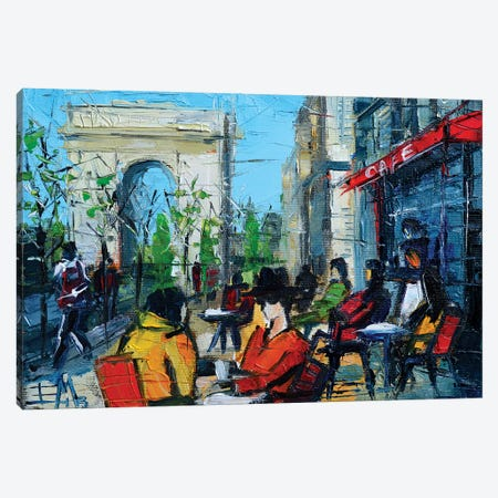 Urban Story - Champs-Élysées Canvas Print #MGE93} by Mona Edulesco Art Print
