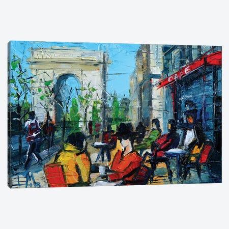 Urban Story - Champs-Élysées 3-Piece Canvas #MGE93} by Mona Edulesco Art Print