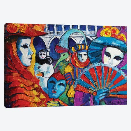 Venice Carnival Canvas Print #MGE98} by Mona Edulesco Canvas Art Print
