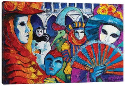 Venice Carnival Canvas Art Print