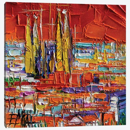 Barcelona View From Park Güell Canvas Print #MGE9} by Mona Edulesco Canvas Artwork