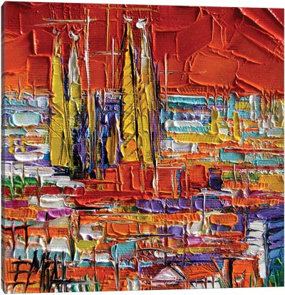 Barcelona View From Park Güell Canvas Art Print