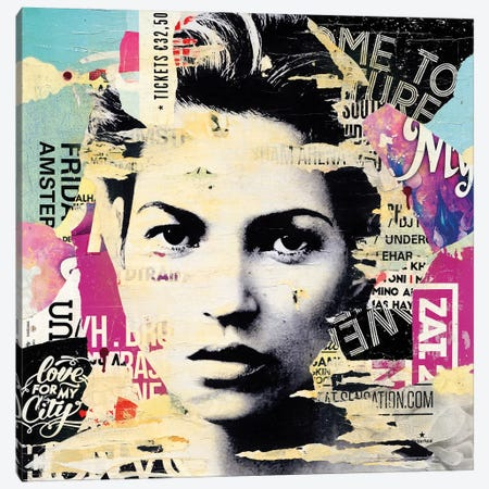 Kate Moss Canvas Print #MGF104} by Michiel Folkers Art Print