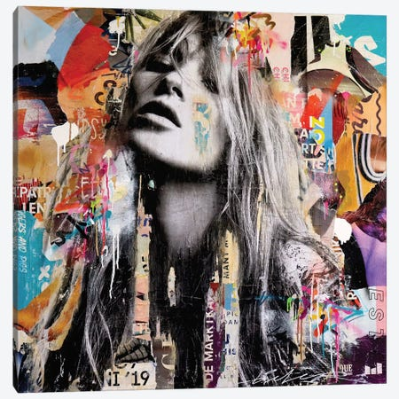 Kate Moss London Canvas Print #MGF106} by Michiel Folkers Art Print