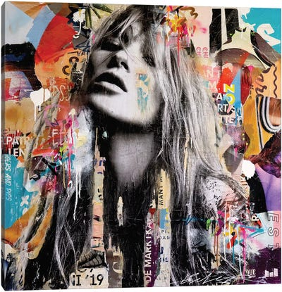 Kate Moss London Canvas Art Print