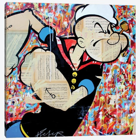 Popeye The Sailorman Canvas Print #MGF110} by Michiel Folkers Art Print