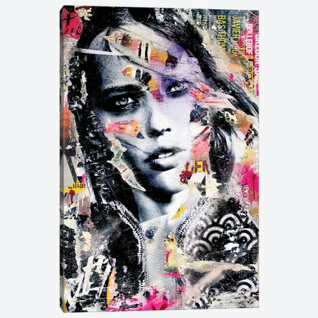 Sasha Pivovarova Canvas Print #MGF111} by Michiel Folkers Canvas Art Print