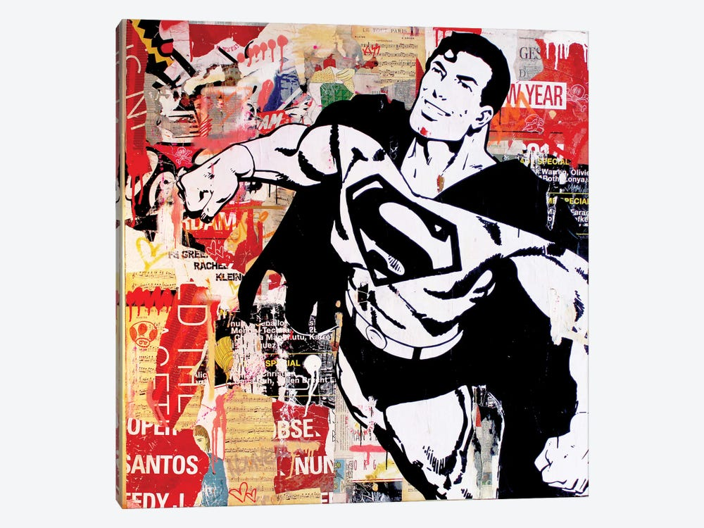Flying For Justice by Michiel Folkers 1-piece Canvas Art Print