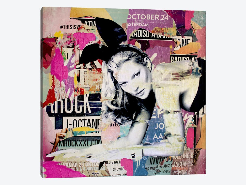 Kate Moss Playin' Bad Bunny by Michiel Folkers 1-piece Art Print